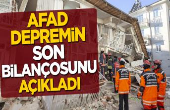 AFAD, Elazığ depreminin son bilançosunu açıkladı