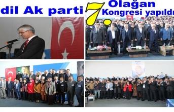 İdil Ak Parti 7.Olağan kongresi yapıldı