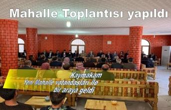 Yeni Mahallede Halk Toplantısı yapıldı