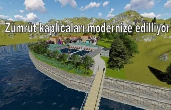 Zümrüt kaplıcaları modernize edilliyor
