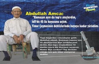 """Abdullah Amca: """"Ramazan ayın da top'u ateşlerdim, İdil'de 42 Su kuyusunu açtım."""""""