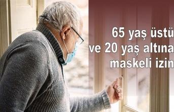 13-15 Mayıs arası 65 yaş üstüne 4 saat izin