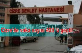 Cizre'de vaka sayısı 400 'ü geçti
