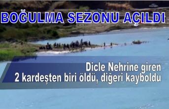 Dicle Nehrine giren 2 kardeşten biri öldü, diğeri kayboldu