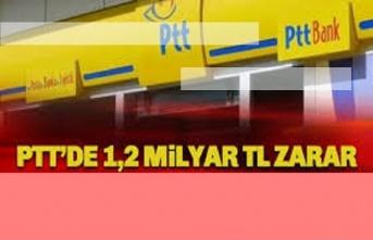 PTT'den 1,2 milyarlık zarar rekoru!