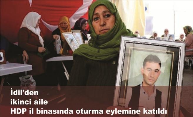 İdil'den ikinci aile HDP il binasında oturma eylemine katıldı