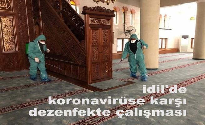 idil'de koronavirüse karşı dezenfekte çalışması