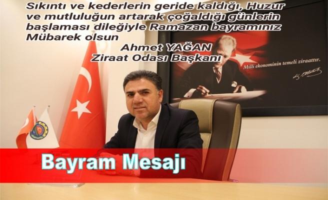 Ahmet Yağan Bayram mesajı
