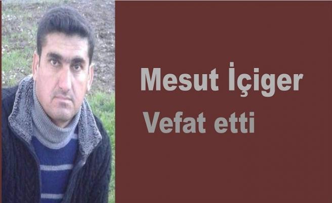 Mesut İçiger vefat etti