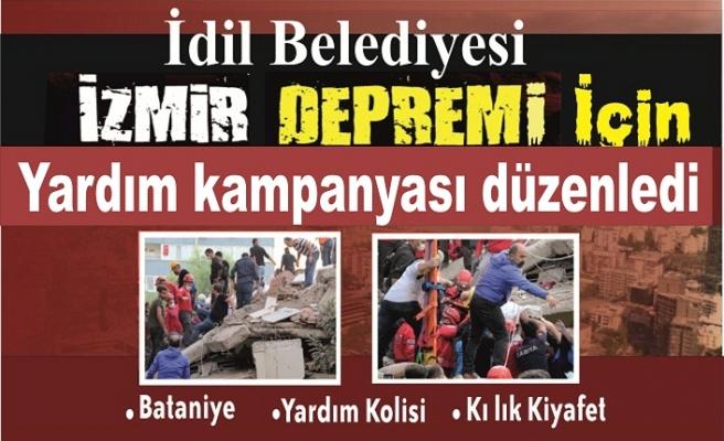 İdil Belediyesi İzmir Depremi İçin Kampanya düzenledi