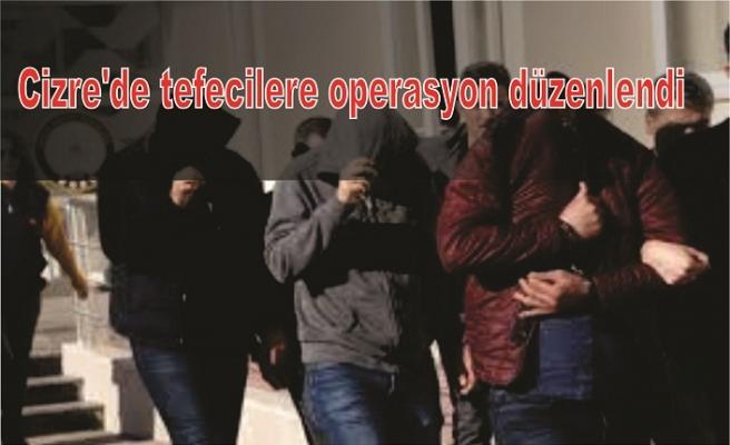 Cizre'de tefecilere operasyon düzenlendi