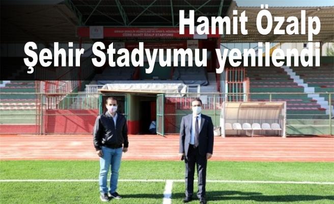 Cizreilçesindeki HamitÖzalpŞehir Stadyumu yenilendi.