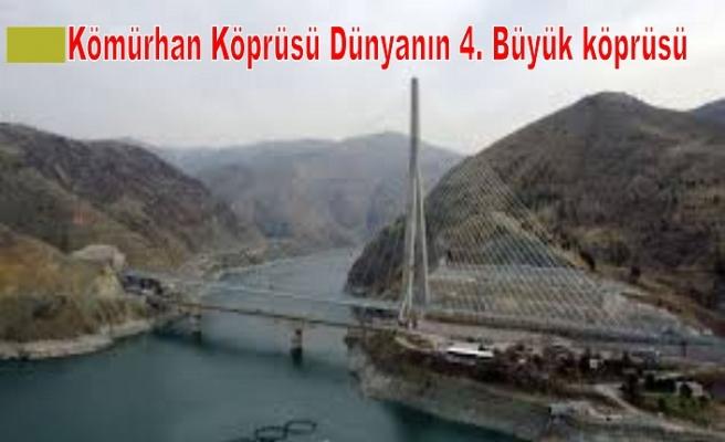 Kömürhan Köprüsü Dünyanın 4. Büyük köprüsü