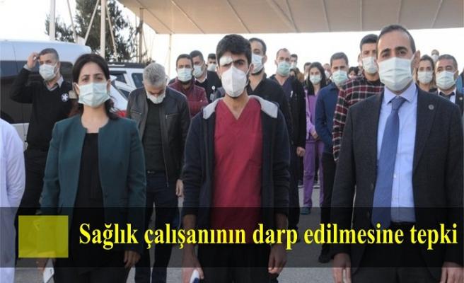 Cizre'de sağlık çalışanının darp edilmesine tepki