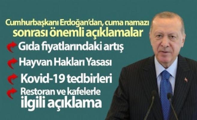 Erdoğan'dan 'gıda' açıklaması: Çok ağır cezalar sizi bulabilir