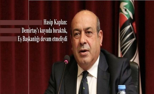 Hasip Kaplan: Demirtaş'ı kuyuda bıraktık, Eş Başkanlığı devam etmeliydi