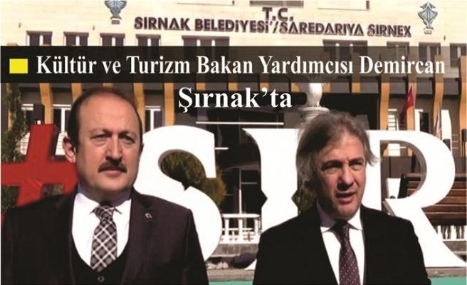 Kültür ve Turizm Bakan Yardımcısı Demircan Şırnak'ta