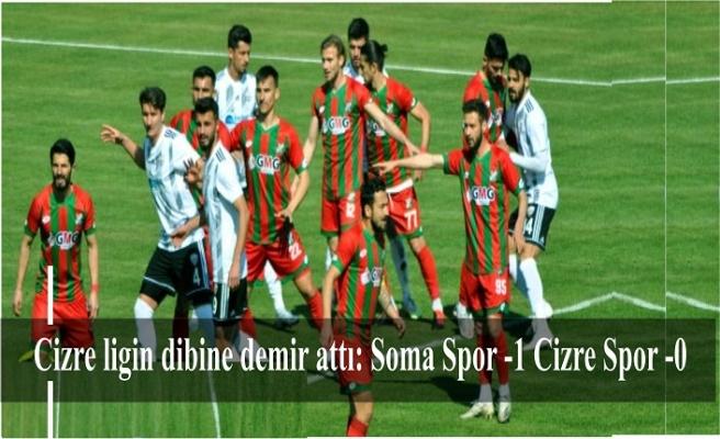 Cizre ligin dibine demir attı: Soma Spor -1 Cizre Spor -0