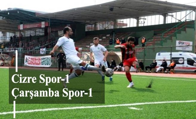 Cizrespor 1 Çarşambaspor 1