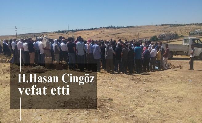 H.Hasan Cingöz vefat etti