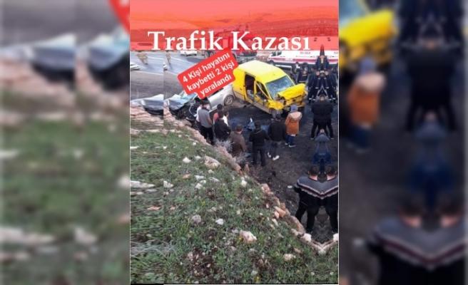 İdil'de Trafik kazası 4 kişi hayatını kaybetti 2 kişi yaralandı