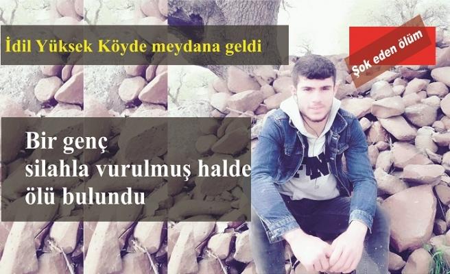 İdil'de bir genç silahla vurulmuş halde ölü bulundu