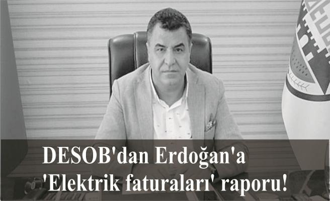 DESOB'dan Erdoğan'a 'Elektrik faturaları' raporu!