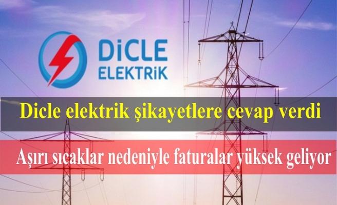 Dicle Elektrik: Aşırı sıcaklar nedeniyle faturalar yüksek geliyor