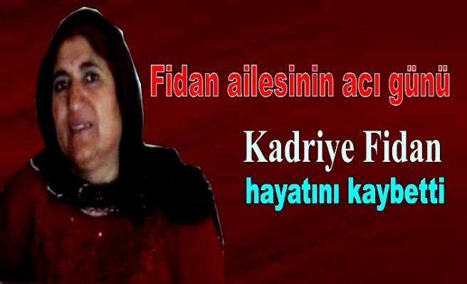 Kadriye Fidan hayatını kaybetti