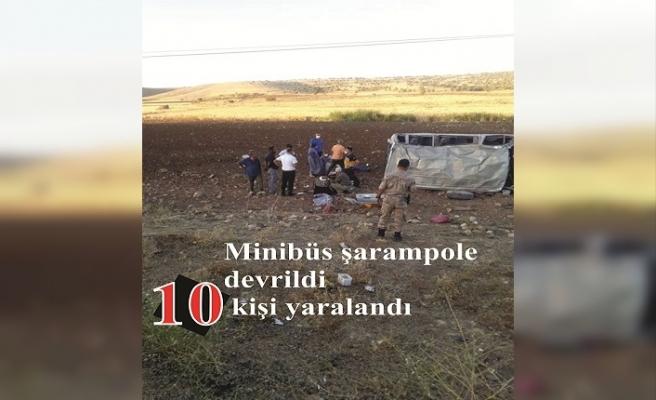 trafik kazasında 10 kişi yaralandı.