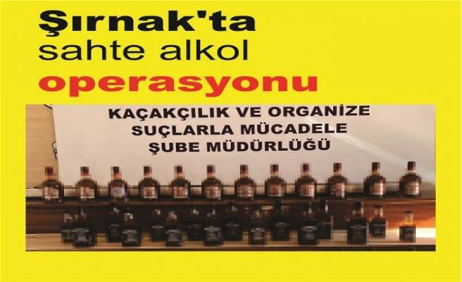Şırnak'ta sahte alkol operasyonu