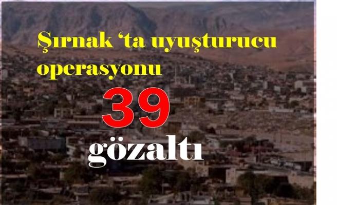 Şırnak'ta uyuşturucu ve kaçakçılık operasyonlarında 39 şüpheli yakalandı
