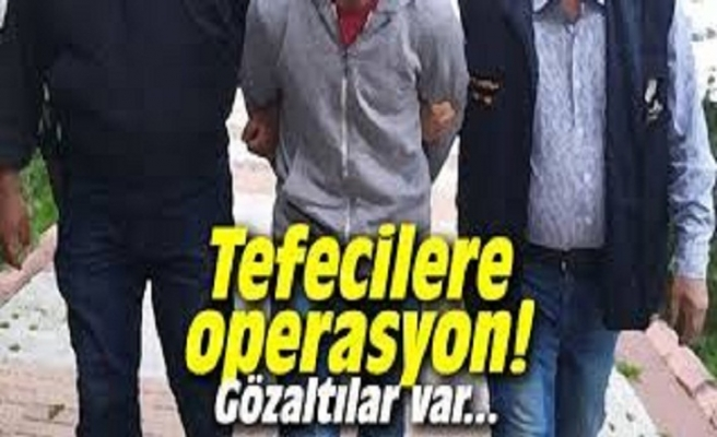 Tefecilere operasyon 3 kişi yakalandı