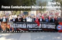 Şırnak'ta, Fransa Cumhurbaşkanı Macron protesto...