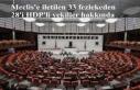 Meclis'e iletilen 33 fezlekeden 28'i HDP'li...