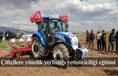 Çiftçilere yönelik yerfıstığı yetiştiriciliği eğitimi