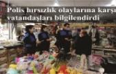Polis hırsızlık olaylarına karşı vatandaşları bilgilendirdi