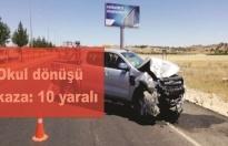 Öğretmen servisi kaza yaptı: 10 yaralı