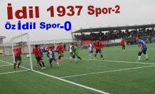 Derbi maçını İdil 1937 Spor kazandı