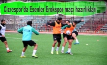 Cizrespor'da Esenler Erokspor maçı hazırlıkları