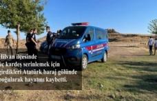 Baraj gölüne giren 3 kardeş hayatını kaybetti