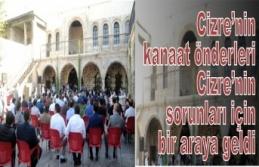 Cizre'de kanaat önderleri, ilçenin sorunlarını...