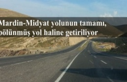 Mardin-Midyat yolunun tamamı, bölünmüş yol haline...