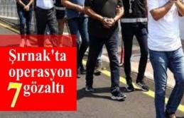 Şırnak'ta operasyon 7 gözaltı