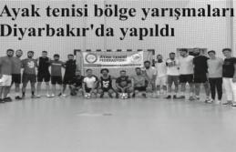 Ayak tenisi bölge yarışmaları Diyarbakır'da yapıldı