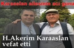 H.Abdulkerim Karaaslan vefat etti