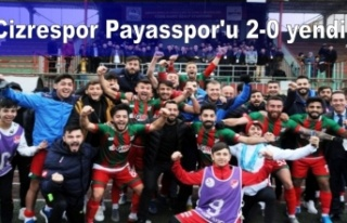 Cizrespor Payasspor'u 2-0 yendi