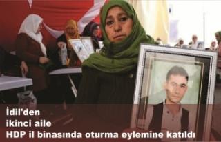 İdil'den ikinci aile HDP il binasında oturma...