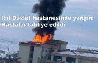 İdil Devlet hastanesinde yangın: Hastalar tahliye...