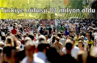 Türkiye nüfusu 83 milyon oldu
